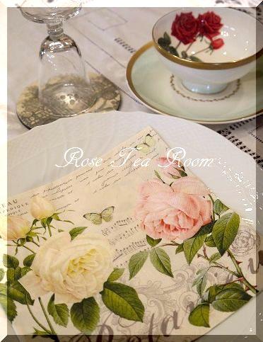 2素敵な! バラのお迎えテーブル&タティングレース~♪_a0159974_8101826.jpg