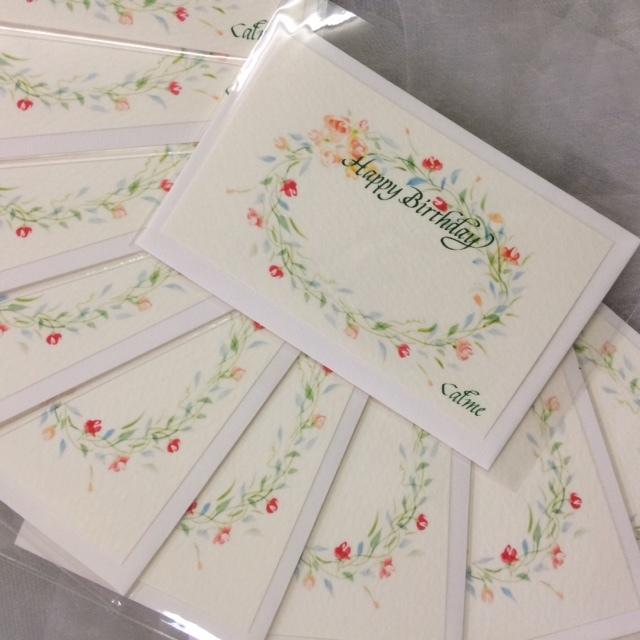 店名入り お誕生日カード_b0105897_15311132.jpg