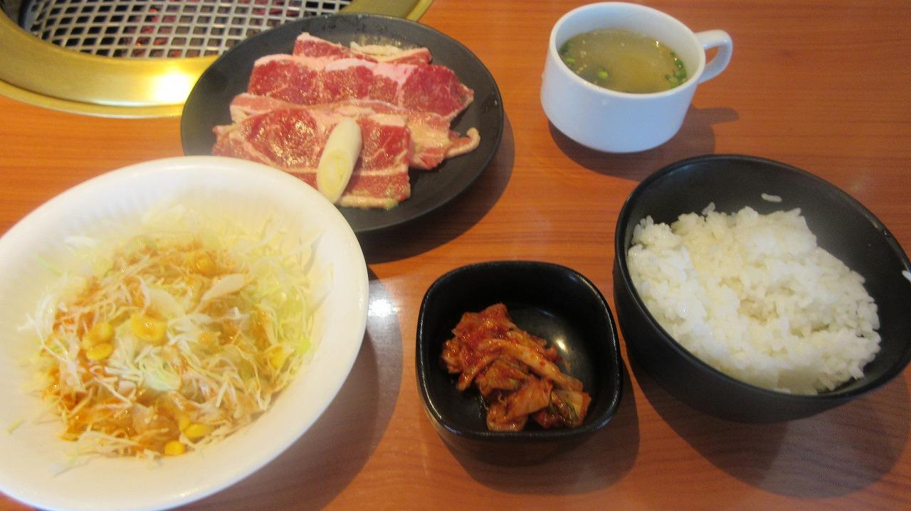 ねぎ塩牛カルビ焼き肉ランチ/カルビ亭 三夢_b0163804_2325457.jpg