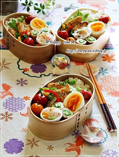 カジキの照焼き弁当と桃酵母で白パン♪_f0348032_18585989.jpg