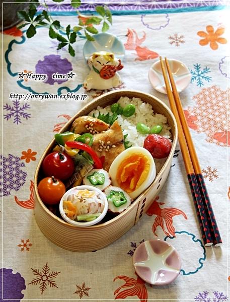 カジキの照焼き弁当と桃酵母で白パン♪_f0348032_18590825.jpg