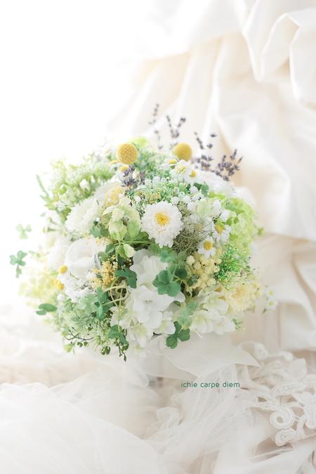 プリザーブドブーケ 小笠原伯爵邸様へ 野の花風の3シェアブーケ、ラベンダーをいれて_a0042928_18152785.jpg