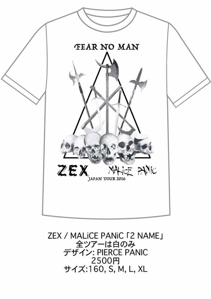 ZEX(CA) 前売り限定ツアーTシャツ発売‼_c0308247_23162431.jpg