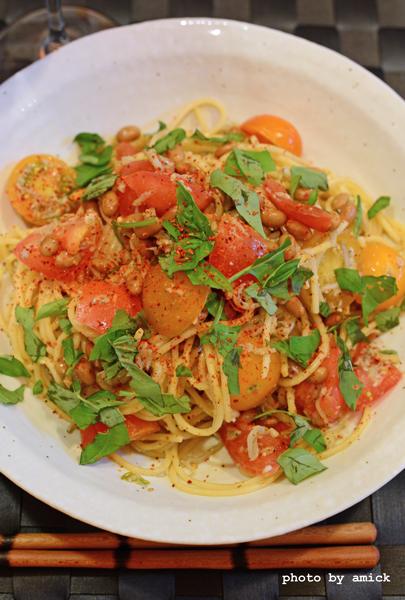 7月21日 木曜日 カレー風味の冷製トマトスパゲティ_b0288550_17372662.jpg