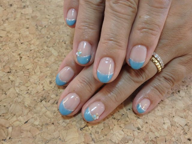 Bule French Nail_a0239065_17244813.jpg