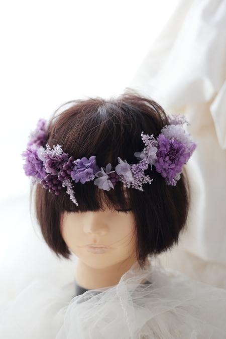 紫の花冠、明治記念館さまへ プリザーブドフラワーで_a0042928_1311232.jpg