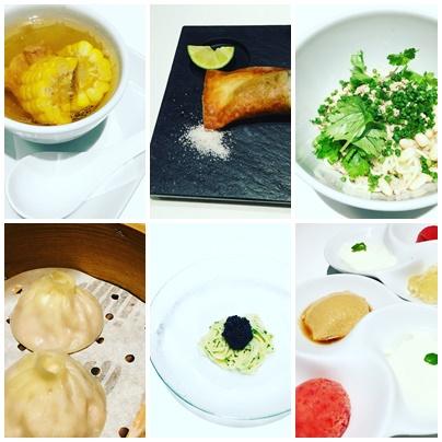 恵比寿 マサズキッチンのトウモロコシのシャンタンとキャビアの冷麺と鮎の春巻きと_b0048834_12122737.jpg