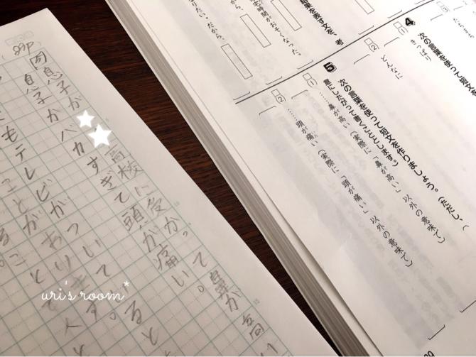 最近仲間入りした便利なキッチンアイテム!それから…息子の国語のノート。_a0341288_22444532.jpg
