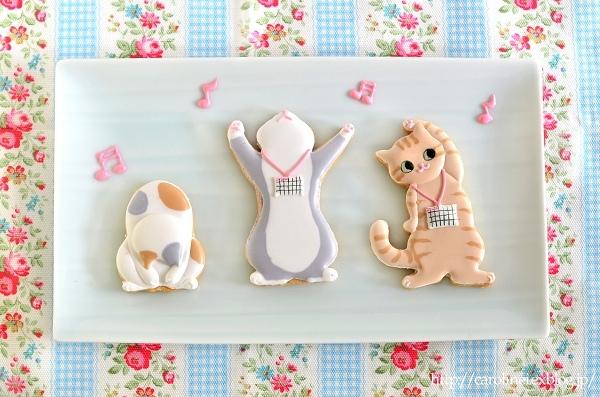 Lauraの猫のラジオ体操アイシングクッキー  Homemade Cat Icing Cookies_d0025294_19442835.jpg