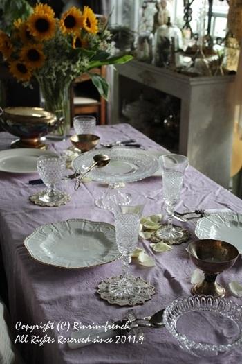 誕生日のテーブル。ひまわりの笑顔にのせて。_e0237680_19180454.jpg