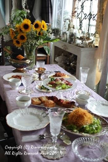誕生日のテーブル。ひまわりの笑顔にのせて。_e0237680_19212270.jpg