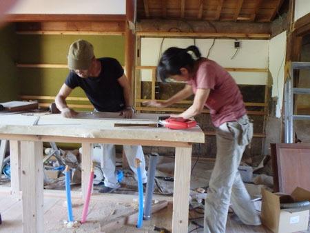 古民家リノベーション~キッチン作り&窓開け_f0208315_23412126.jpg