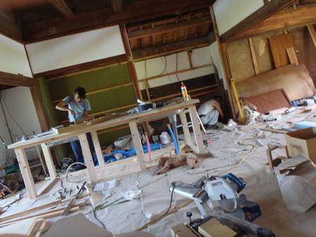 古民家リノベーション~キッチン作り&窓開け_f0208315_23413085.jpg