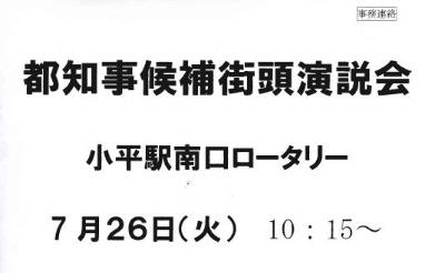 都知事選挙応援活動_f0059673_19475034.jpg