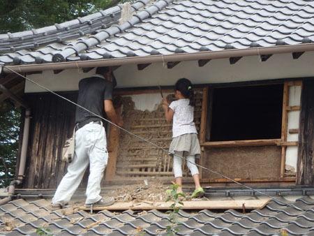 古民家リノベーション~キッチン作り&窓開け_f0208315_00413156.jpg
