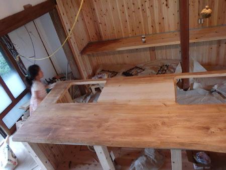 古民家リノベーション~キッチン・アイランドの塗装_f0208315_23071572.jpg