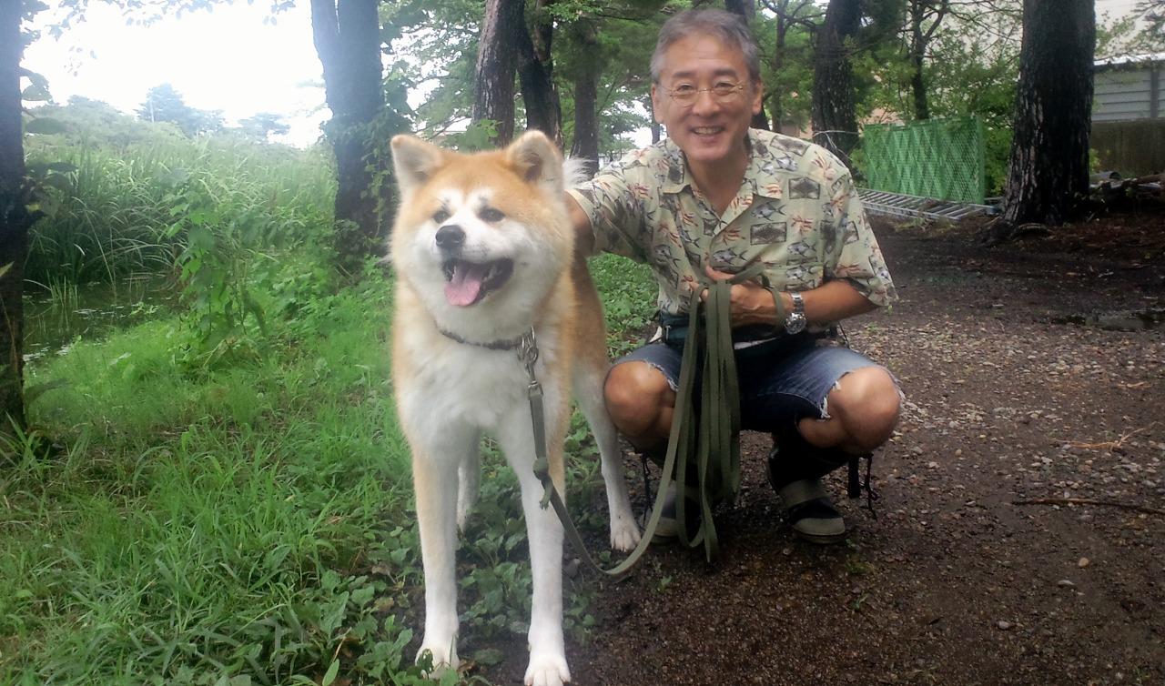滝沢一成市議の秋田犬_b0163804_12473521.jpg