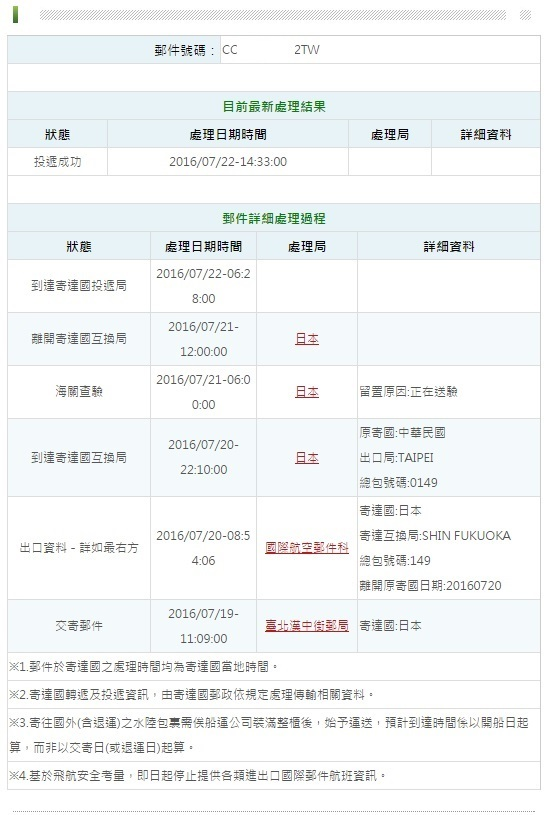 台湾から日本へ郵便小包(航空便)で荷物を送る・その2。_a0207624_11323933.jpg