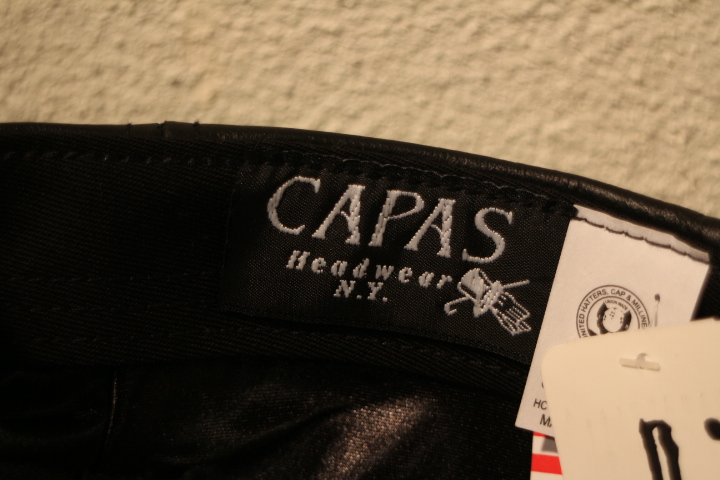 【NEW ARRIVAL】- CAPAS Leather Cap -_b0121563_1538366.jpg