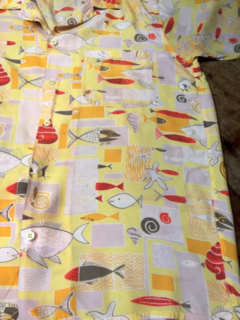 60s   FISH柄 HAWAIIAN SHIRTS!!_c0144020_19233385.jpg