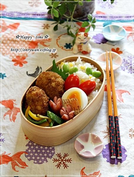 メンチカツ弁当とランタナ♪_f0348032_18485795.jpg