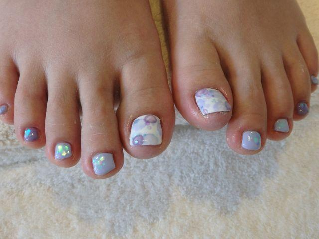 Dots Foot Nail_a0239065_13153766.jpg