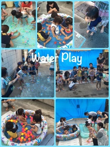 Water play⛱ Mommy&baby English_a0285570_00261622.jpeg