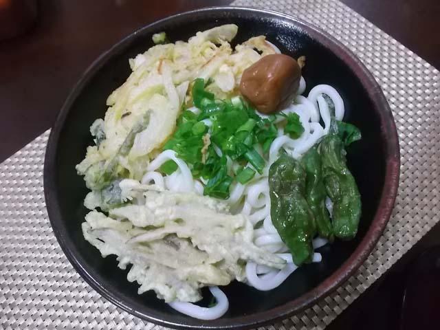 今日の夫の料理 天ぷら冷やしうどん_f0019498_19114369.jpg