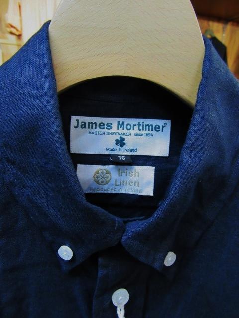 由緒正しき夏の大人の定番。。。James Mortimer LINEN B/D SHIRTS!★!_d0152280_22323017.jpg