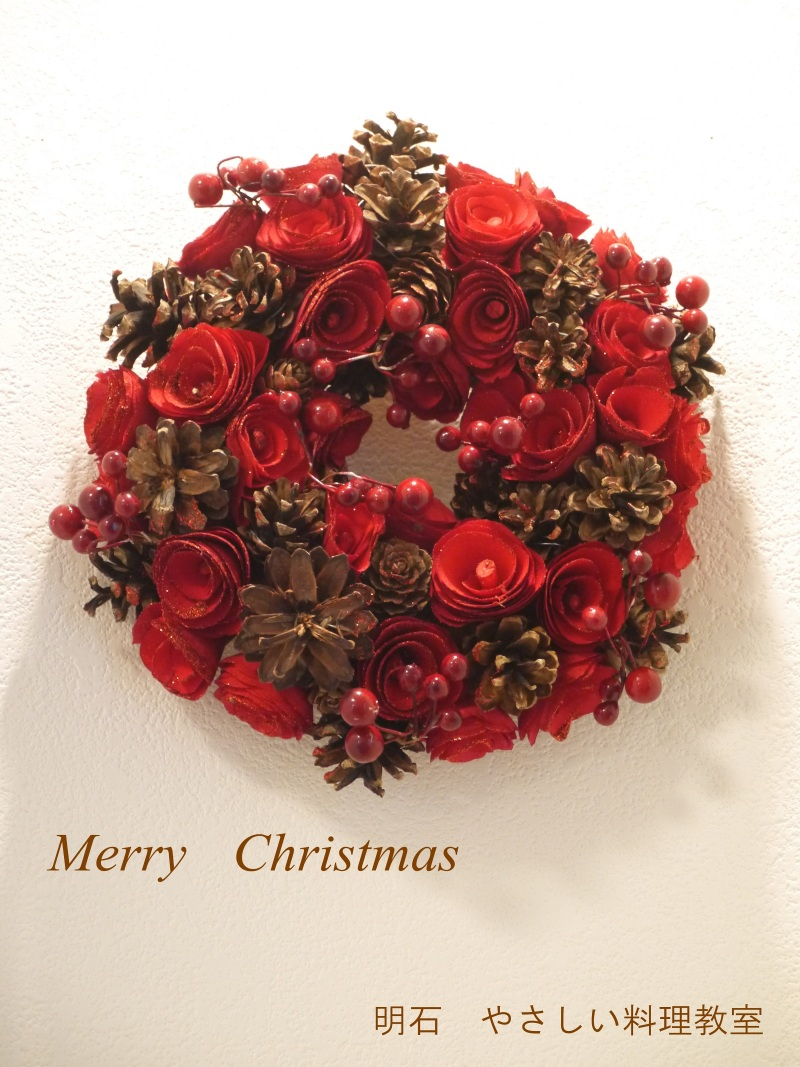 Christmasリースを飾って♪_f0361692_11282108.jpg