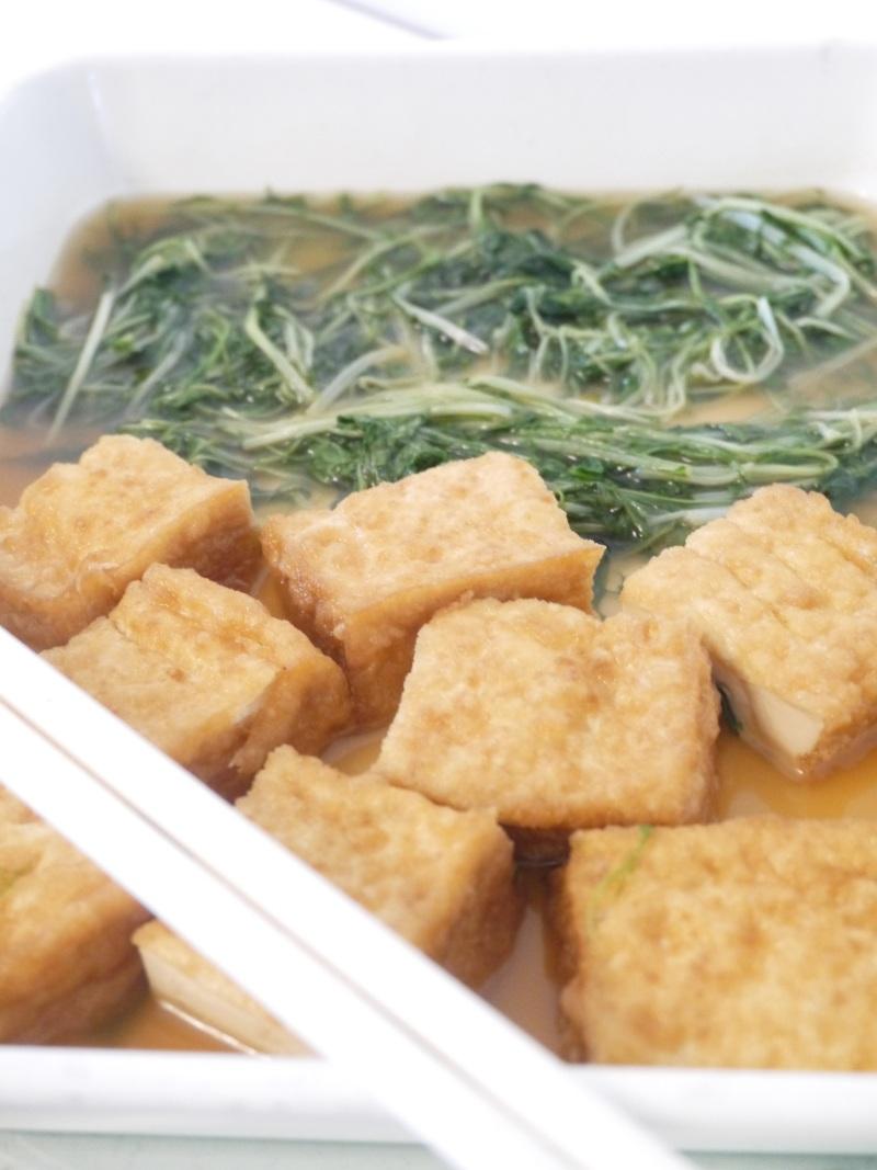 3分煮*春の水菜と厚揚げの煮浸し_f0361692_11334893.jpg