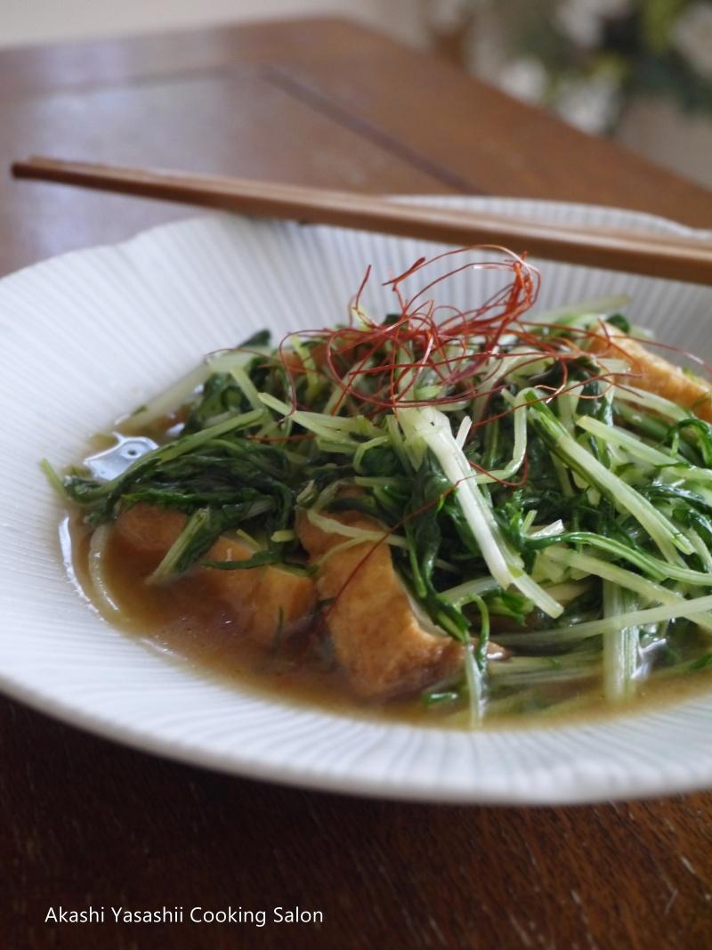 京水菜と厚揚げの煮浸し_f0361692_11384856.jpg