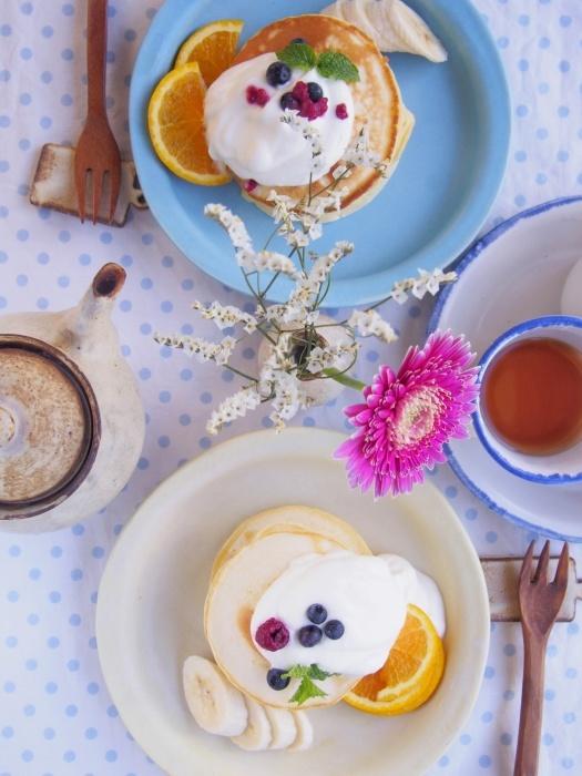 ブルーベリーのパンケーキ。_b0277136_14195293.jpeg