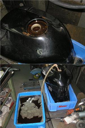 TDM850 タンクのコーティングから塗装へ_e0218639_1125950.jpg