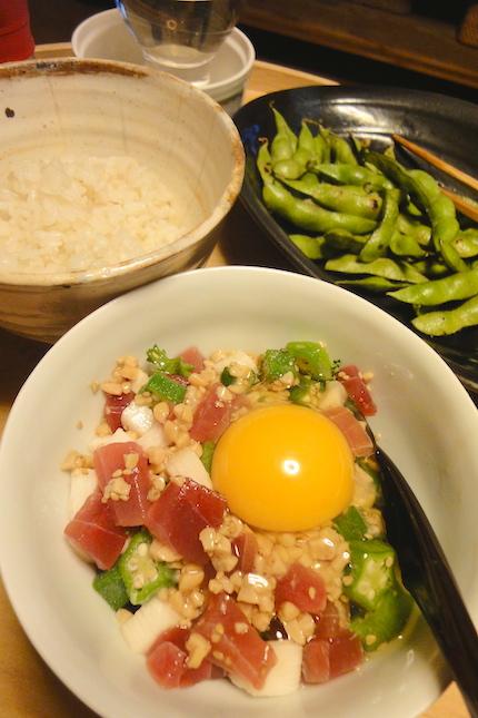 マグロとネバネバ野菜 〜ひとりごはん_f0054859_13341620.jpg