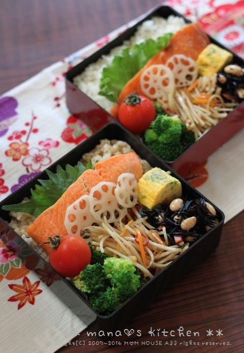 月曜鮭弁と作りおき ✿ チキンのアドボ♪_c0139375_10383447.jpg