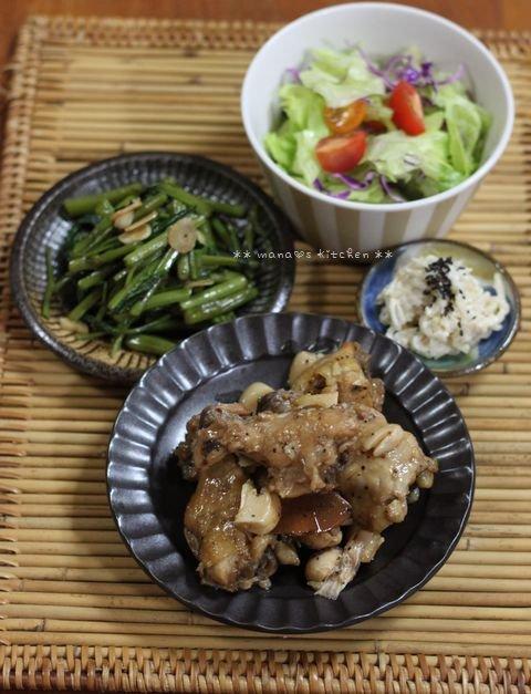 月曜鮭弁と作りおき ✿ チキンのアドボ♪_c0139375_10385555.jpg