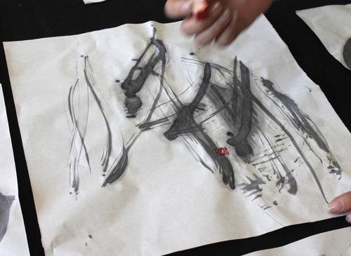 アーカス‖シェア‖スタジオ利用風景その3:自主企画「書アート体験」_a0216706_13292972.jpg