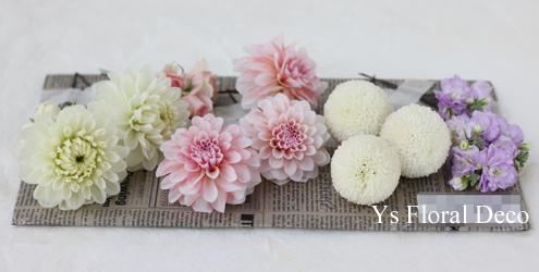 ピンクの色打掛にあわせる生花のヘッドドレス_b0113510_12382268.jpg
