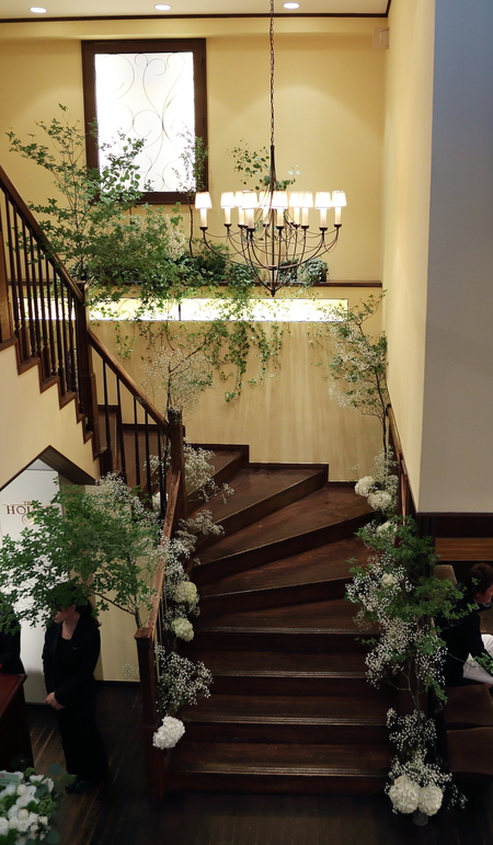 夏の装花 ザ・ハウス白金様へ レセプションパーティに_a0042928_11182380.jpg