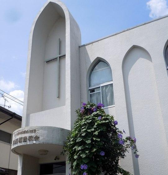 路傍の花、樹々の鳥(129) ~ 教会に朝顔は ~_b0102572_143271.jpg