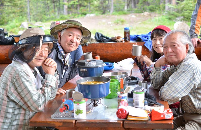 S様 山仲間 ロッキーにどっぷりの旅 / アシニボイン キャンプ編_d0112928_14285140.jpg