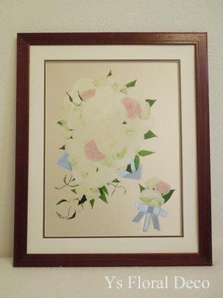 カップ咲のバラのキャスケードブーケ ホテル椿山荘さんへ_b0113510_15191054.jpg