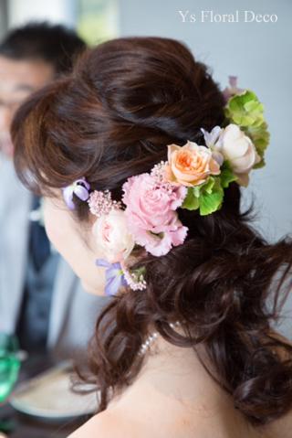 春らしい色のヘッドドレス & 贈呈用リース_b0113510_23110032.jpg