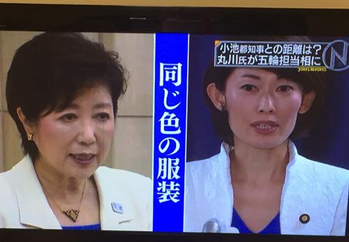 丸川珠代氏が小池百合子氏と同じ洋服で記者会見した件_d0169072_17442141.jpg