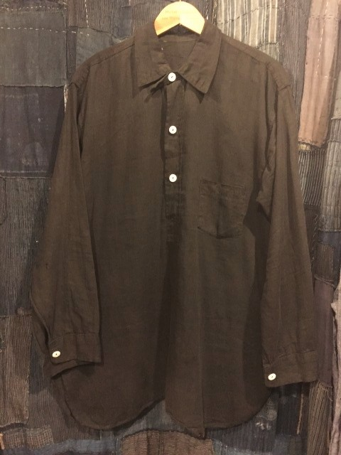 ~1920\'s BLACK Cotton shirts_d0121303_20262449.jpg
