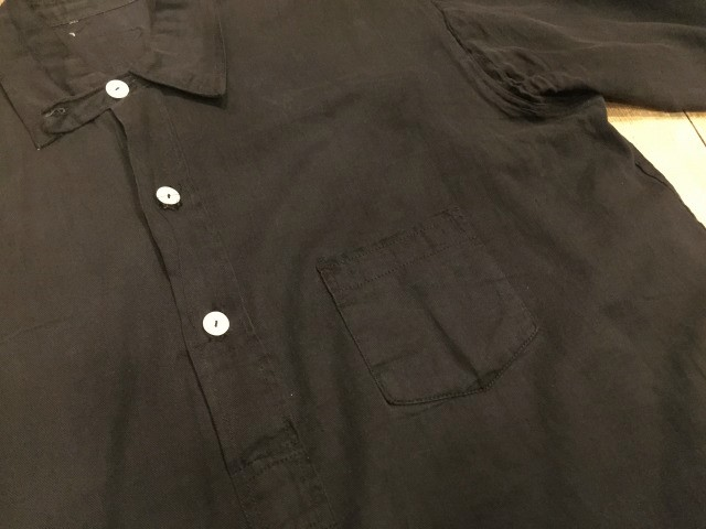 ~1920\'s BLACK Cotton shirts_d0121303_20432436.jpg