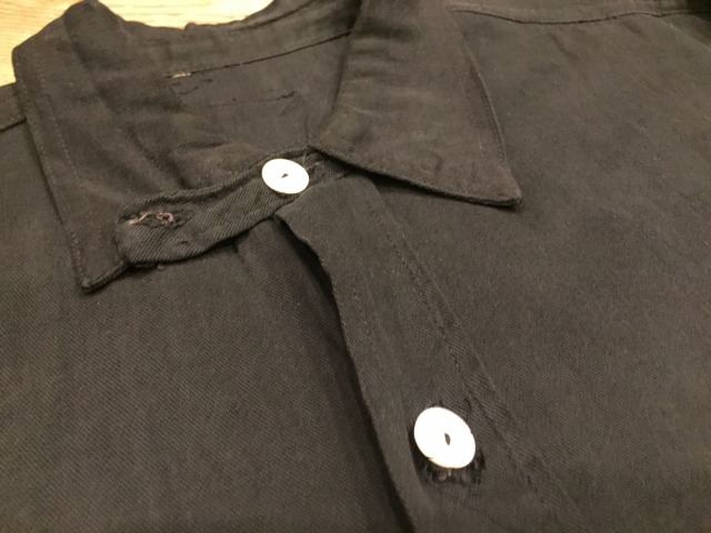 ~1920\'s BLACK Cotton shirts_d0121303_2050538.jpg