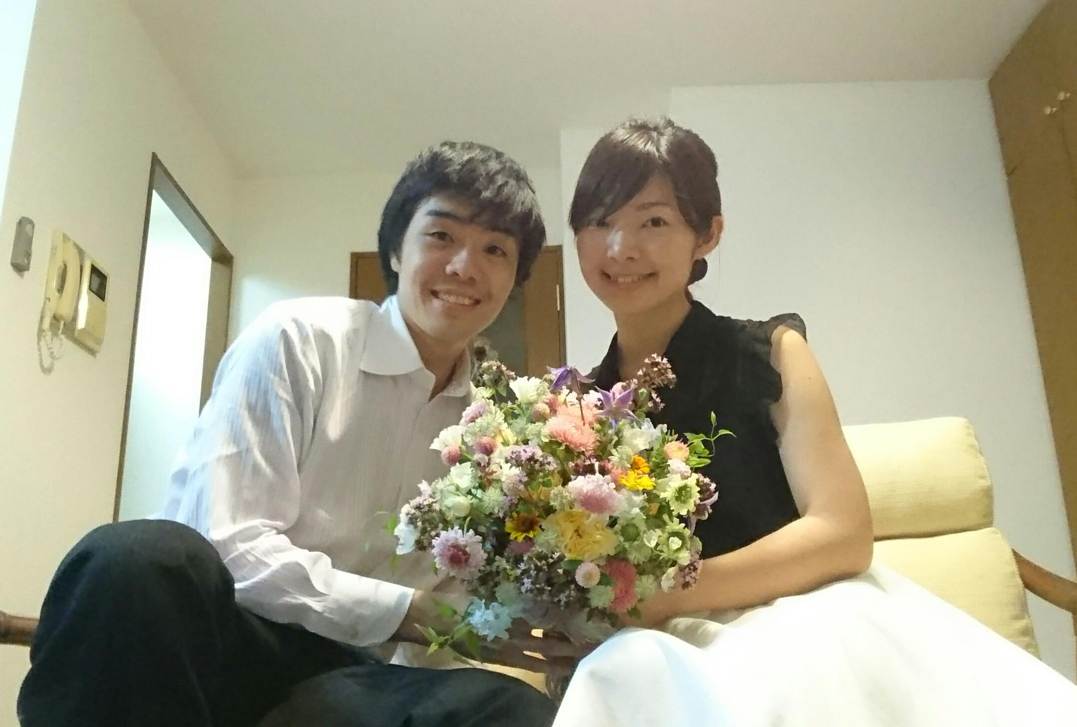 1年目の結婚記念に、奥様へ、花束を ずっと未来に残る、結婚式の花を_a0042928_17411992.jpg