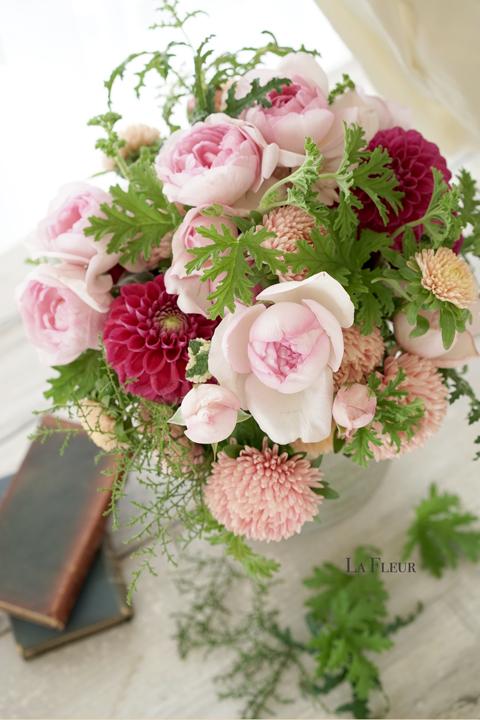 rose エレノアのブーケロン_f0127281_15225073.jpg
